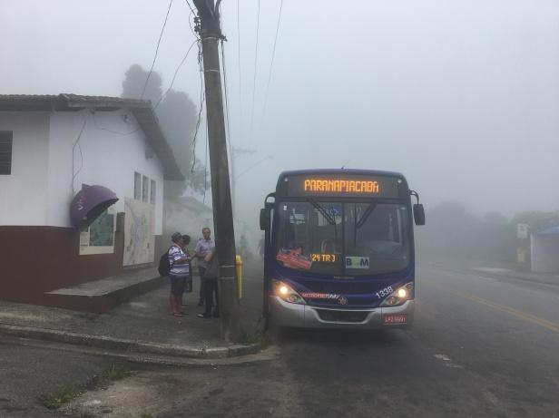 ônibus para paranapiacaba